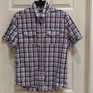 7 Diamonds Men's Short Sleeve Button Down Shirt
